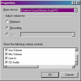 Recording Properties